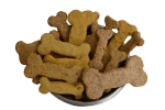 A bowl of home-made healthy dog biscuit treats